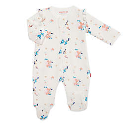 Magnetic Me® by Magnificent Baby Newborn Notting Hill Velour Footie in Cream