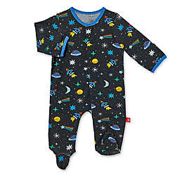 Magnetic Me® by Magnificent Baby Space Chase Magnetic Footie in Black