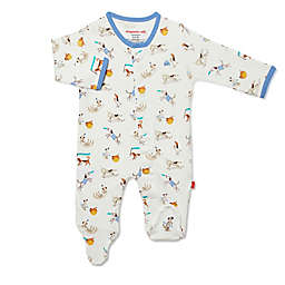 Magnetic Me® by Magnificent Baby Size 0-3M Howlarious Magnetic Footie in Ivory