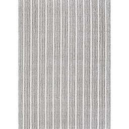 Couristan Aspen Textured Stripes 6' x 9' Area Rug in Dark Grey