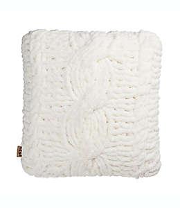 Cojín decorativo cuadrado de poliéster UGG® Clemens color blanco nieve