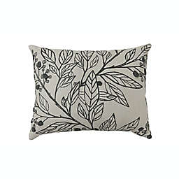 Bee & Willow™ Home Berry Leaves Embroidered Oblong Throw Pillow in Grey
