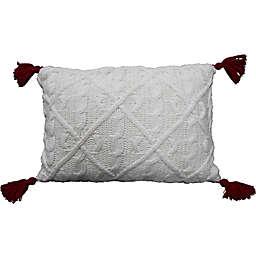 Bee & Willow™ Tassel Christmas Throw Pillow in Coconut Milk