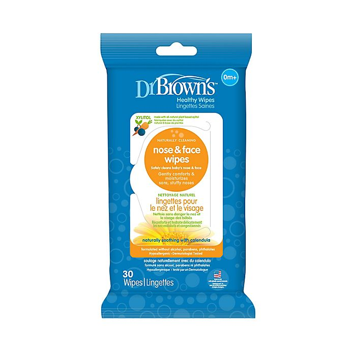 Alternate image 1 for Dr. Brown's® 30-Pack Nose and Face Wipes