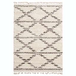 ECARPETGALLERY Grammercy Liv Shag 8' x 10' Area Rug in Cream