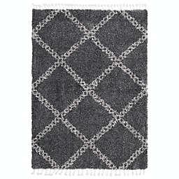 ECARPETGALLERY Grammercy Stark Shag 6'7 x 9'6 Area Rug in Dark Grey