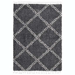 ECARPETGALLERY Grammercy Stark Shag 8' x 10' Area Rug in Dark Grey