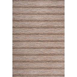 JONATHAN Y Bo Modern Stripe Indoor/Outdoor Rug in Brown/Natural