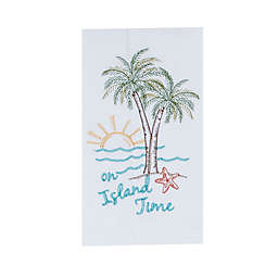 Kay Dee Designs Palm Tree Embroidered Flour Sack Kitchen Towel