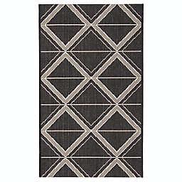 ECARPETGALLERY Jozie Indoor/Outdoor 2'2 x 3'7 Accent Rug in Black