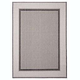 ECARPETGALLERY Maeve 4'4 x 6'3 Indoor/Outdoor Rug in Grey