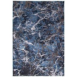 ECARPETGALLERY Marble 8' x 10' Area Rug in Blue