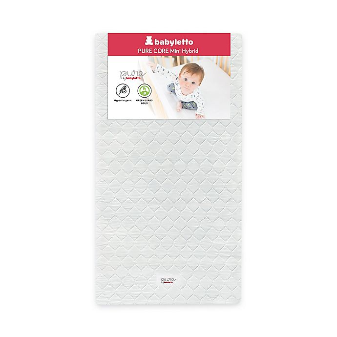 Alternate image 1 for Babyletto Pure Core Mini Crib Mattress with Hybrid Quilted Waterproof Cover