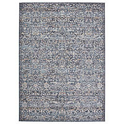 Jaipur Living Odette Oriental 6'7 x 9'6 Area Rug in Dark Blue/Grey