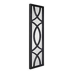 Kate and Laurel Tolland 12-Inch x 48-Inch Windowpane Mirror in Black