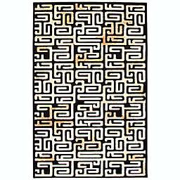 ECARPETGALLERY Gia 7'6 x 10'1 Area Rug in Black/Ivory