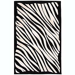 ECARPETGALLERY Kara 7'6 x 10'1 Area Rug in Black/Ivory