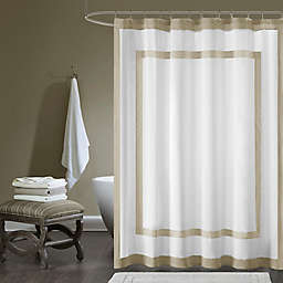 Madison Park® 72-Inch x 72-Inch Greyson Cotton Shower Curtain in Taupe