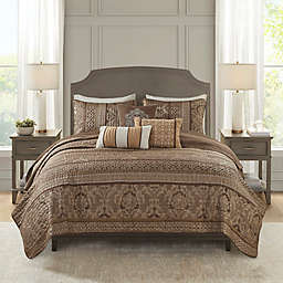 Madison Park Bellagio King/Cal-King 6-Piece Reversible Coverlet Set in Brown