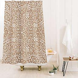Deny Designs Aimee St. Hill Amirah 71-Inch x 74-Inch Shower Curtain in Beige