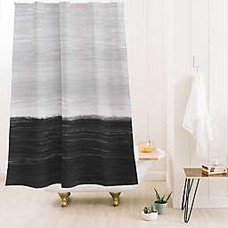 Deny Designs Little Arrow Design Anahita Standard Shower Curtain in Black/Grey