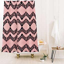 Deny Designs 74-Inch x 71-Inch Schatzi Luna Tie Dye 1 Shower Curtain in Pink/Brown
