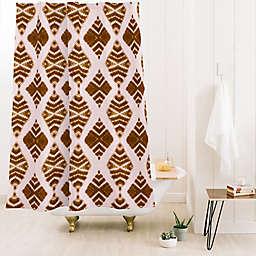 Deny Designs 74-Inch x 71-Inch Schatzi Luna Tie Dye 1 Shower Curtain in Brown/Beige