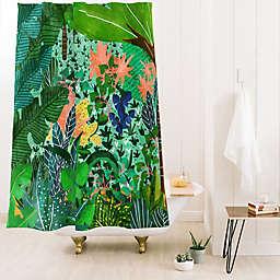 Deny Designs 74-Inch x 71-Inch 83 Oranges Dense Forest Shower Curtain in Green