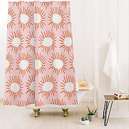 Deny Designs 71-Inch x 74-Inch Beshka Kueser Bursting Pink Shower Curtain