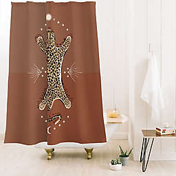 Deny Designs Iveta Abolina Celestial Cheetah 71-Inch x 74-Inch Shower Curtain in Brown