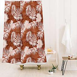 Deny Designs 74-Inch x 71-Inch Schatzi Osprey Shower Curtain in Brown/Orange