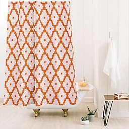Deny Designs 74-Inch x 71-Inch Beshka Kueser Boho Aztec Shower Curtain in Orange