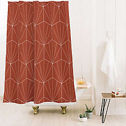 Deny Designs Colour Poems Gisela Geo Line 71-Inch x 74-Inch Shower Curtain