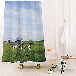 Deny Designs Kevin Russ Farm Horses 71-Inch x 74-Inch Shower Curtain