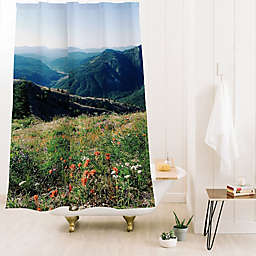 Deny Designs Kevin Russ Gifford Pinchot 71-Inch x 74-Inch Shower Curtain in Blue