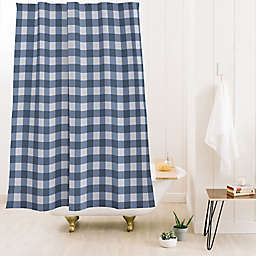 Deny Designs Colour Poems Gingham 71-Inch x 74-Inch Shower Curtain in Blue
