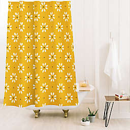 Deny Designs Gale Switzer Daisy Stitch 71-Inch x 74-Inch Shower Curtain in Yellow