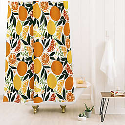 Deny Designs Avenie Citrus Fruits 71-Inch x 74-Inch Shower Curtain in Yellow