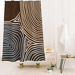 Deny Designs Tribal Pattern Standard Shower Curtain in Brown