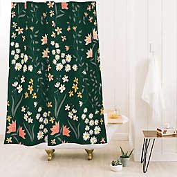 Deny Designs Emanuela Carratoni Meadow Standard Shower Curtain in Green