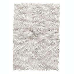 ECARPETGALLERY Faux Sheepskin Plush Rug