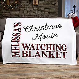 Christmas Movie Watching Personalized 50-Inch x 60-Inch Sweatshirt Blanket