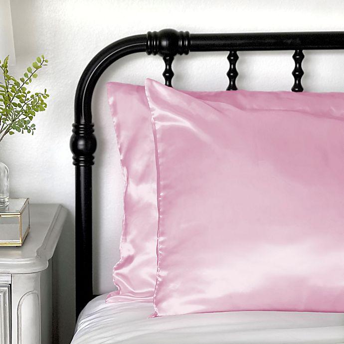 Alternate image 1 for Morning Glamour® Satin Standard Pillowcases (Set of 2)
