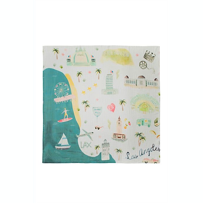 Alternate image 1 for Loulou Lollipop Los Angeles Deluxe Muslin Baby Quilt
