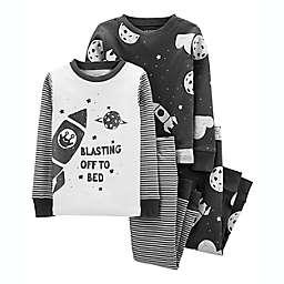 carter's® 4-Piece Space 100% Snug Fit Cotton PJs in Grey