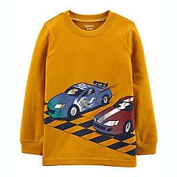 carter's® Race Car Jersey Long Sleeve Tee in Yellow