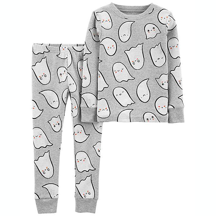 Alternate image 1 for carter's® Halloween Ghost 2-Piece Cotton Pajama Set