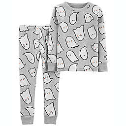 carter's® Halloween Ghost 2-Piece Cotton Pajama Set