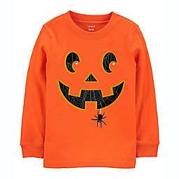 carter's® Glow Pumpkin Halloween Long Sleeve Jersey Tee in Orange