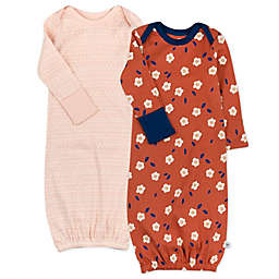 The Honest Company® 2-Pack Fall Flowers and Autumn Leaf Organic Cotton Sleeper Gowns